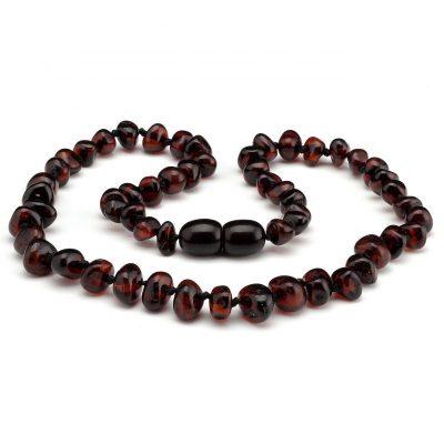 Colar de âmbar barroco cherry polido - 33 cm