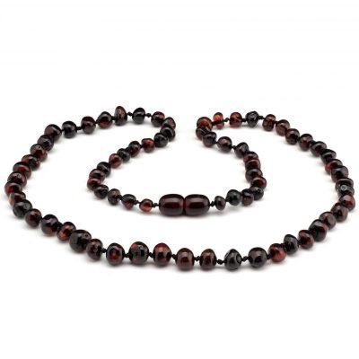 Colar de âmbar barroco cherry polido - 45 cm