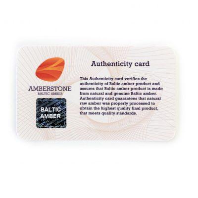 Certificado de Autenticidade com Selo Holográfico Amber Stone